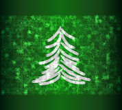 Frozen tree. On green background Royalty Free Stock Photos