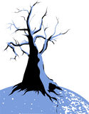 Frozen tree on winter. Vector illustration royalty free illustration