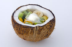 Frozen tropical fruit Stock Images
