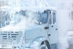 Frozen truck Stock Image