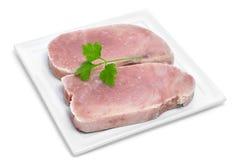 Frozen tuna slices Stock Photo