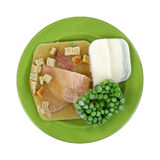 Frozen Turkey Meal on Plate Royalty Free Stock Photography