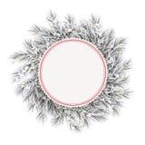 Frozen Twigs Red Emblem Snow Golden Deco Stock Photos