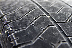 Frozen tyre surface Royalty Free Stock Images