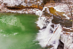 Frozen Upper Cataract Falls Stock Photography