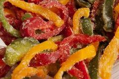Frozen varicoloured sweet pepper Royalty Free Stock Images