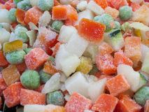 Frozen various vegetables Royalty Free Stock Image