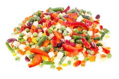 Frozen vegetable Mexican mix with beans and corn. Studio Photon Royalty Free Stock Photo
