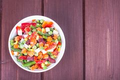 Frozen vegetable Mexican mix with beans and corn. Studio Photon Stock Photography