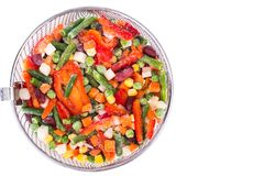 Frozen vegetable Mexican mix with beans and corn. Studio Photon Stock Photo