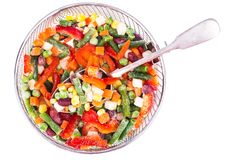 Frozen vegetable Mexican mix with beans and corn. Studio Photon Stock Image