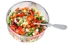 Frozen vegetable Mexican mix with beans and corn. Studio Photon Royalty Free Stock Images