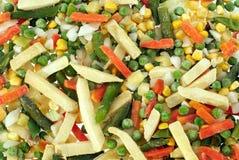 Frozen Vegetables. Prefabricated quick-frozen fresh vegetables Royalty Free Stock Image