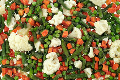 Frozen Vegetables. Prefabricated quick-frozen fresh vegetables Royalty Free Stock Photos