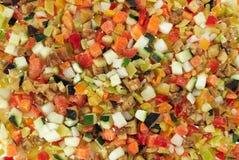 Frozen Vegetables. Prefabricated quick-frozen fresh vegetables Stock Photography