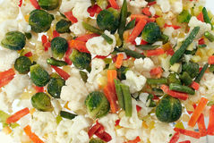 Frozen Vegetables. Prefabricated quick-frozen fresh vegetables Stock Photo