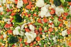Frozen Vegetables. Prefabricated quick-frozen fresh vegetables Royalty Free Stock Photo