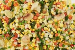 Frozen Vegetables. Prefabricated quick-frozen fresh vegetables Stock Images