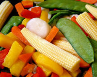 Frozen Vegetables Royalty Free Stock Images