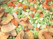 Frozen vegetables. Background Royalty Free Stock Image