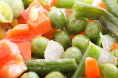 Frozen vegetables. On the plate Stock Photos