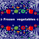 Frozen vegetables abstract background  illustration Stock Photo