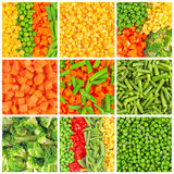 Frozen vegetables backgrounds Royalty Free Stock Photos