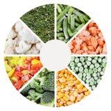 Frozen vegetables backgrounds set Stock Image