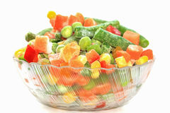 Frozen vegetables in bowl Stock Image