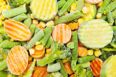 Frozen vegetables Stock Images