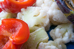 Frozen vegetables closeup Stock Photography