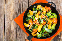 Frozen Vegetables For Frying In A Pan Stock Photo