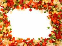 Frozen vegetables frame Royalty Free Stock Image