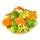 Frozen vegetables in a glass bowl Royalty Free Stock Photos
