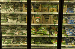 Frozen vegetables grocery store Stock Photography