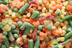 Frozen vegetables. Heap of frozen vegetables. Close-up Stock Photography