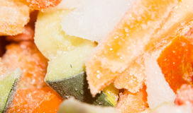 Frozen Vegetables Macro Royalty Free Stock Photography