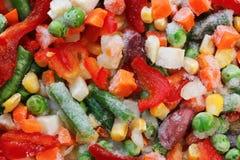 Frozen vegetables. Mexican mix. Macro. 9 Stock Photos
