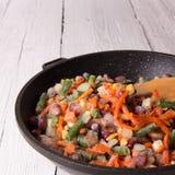 Frozen vegetables Stock Photography