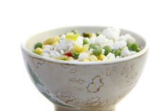 Frozen vegetables with rice Stock Image