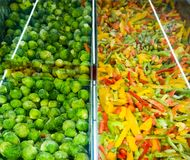 Frozen vegetables stock photo