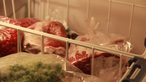 Frozen vegetables for winter stock footage