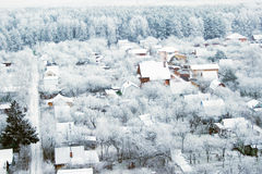 Frozen village 2 Stock Photo
