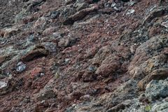 Frozen volcanic colrful red lava closeup texture Royalty Free Stock Photos