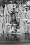 Frozen wall. A beautiful frozen wall in Bozovici , Romania , right next to the Bigar waterfall Stock Photos