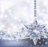 Frozen wallpaper with diamond snowflake, vector Royalty Free Stock Photo