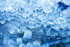 Frozen_water_drops Fotografie Stock