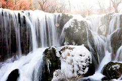 Frozen water fall in Jiuzhaigou, China Royalty Free Stock Photo