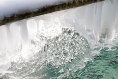 Frozen water fountain Royalty Free Stock Photography