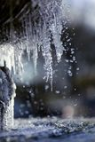 Frozen water fountain macro Stock Images